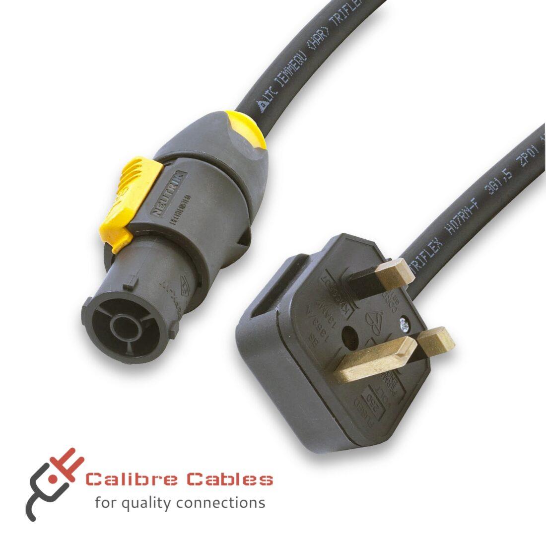 UK plug to PowerCON True 1