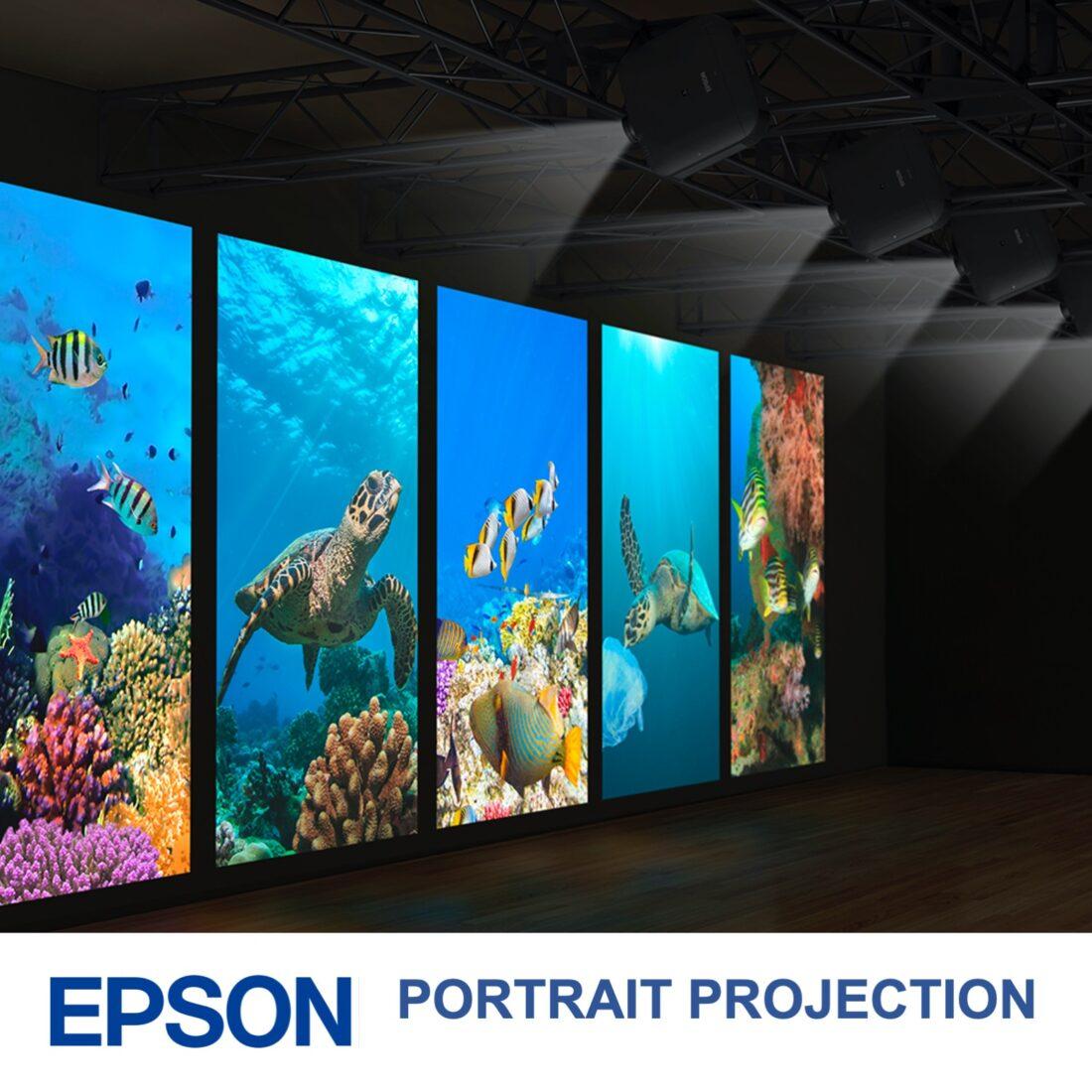 Epson portrait projector