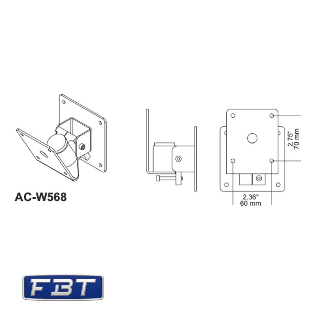 FBT AC-W568 dimensions