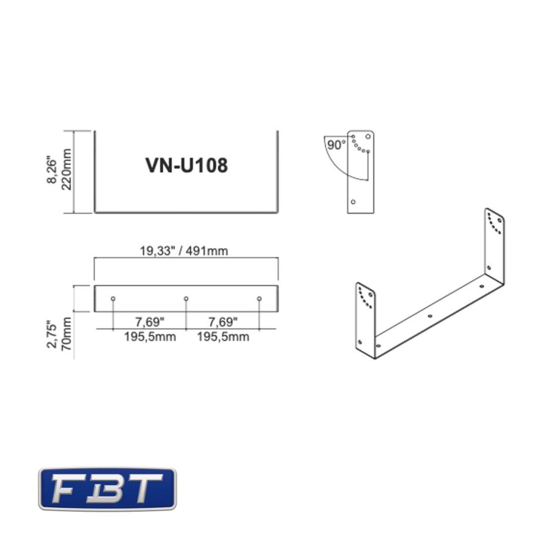FBT VN-U108 bracket dimensions