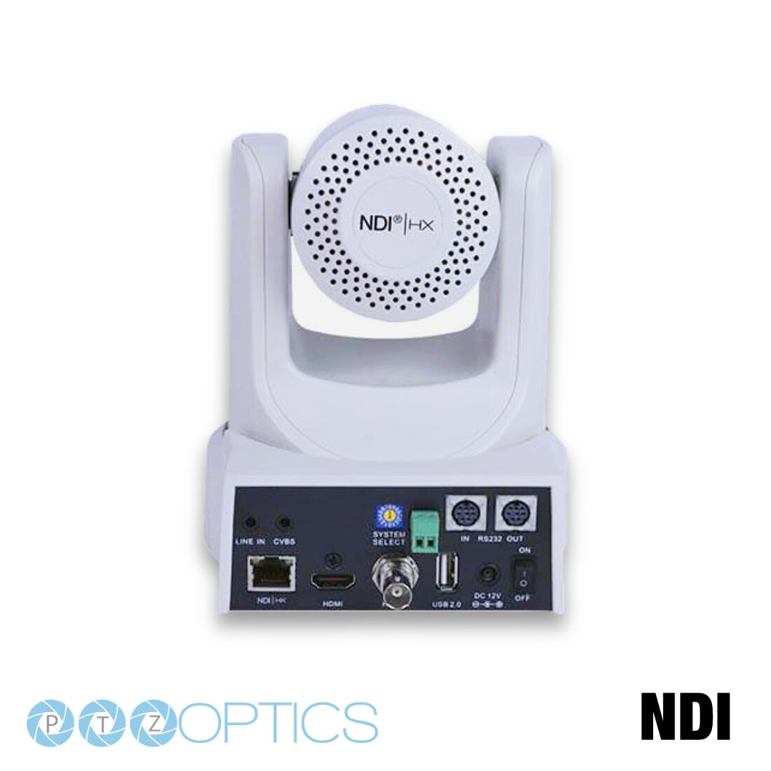PTZ Optics NDI rear white