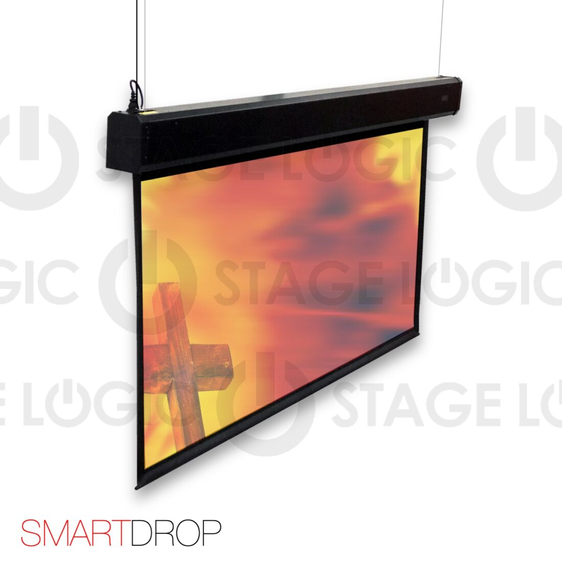 Double drop projection screen